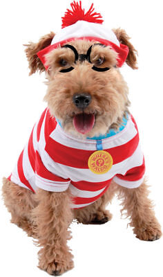 Morris Costumes Where's Waldo Woof Dog Striped Shirt Kit Pet Costume M. EL450050
