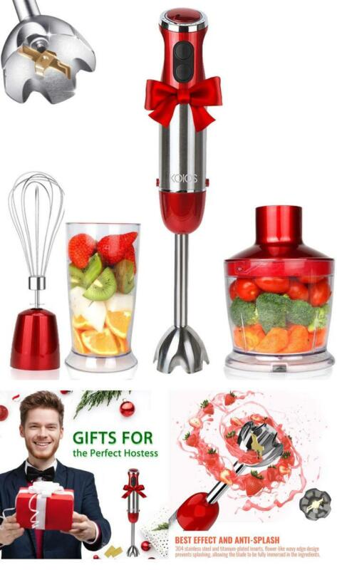 KOIOS 800W 4-in-1 Multifunctional Hand Immersion Blender, 12