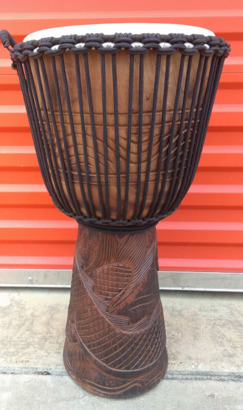SALE - EXTRA LARGE PRO 26 x 15 DJEMBE BONGO HAND DRUM M21 ~ DRAGON