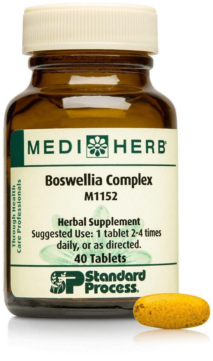 Standard Process MediHerb Boswellia Complex 40tabs EXP 07/2022 - Free Shipping