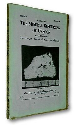 Mineral Resources Oregon December 1914 Vol 1 No 8 Journal Geology Ore Deposits