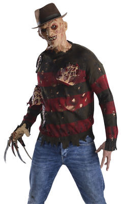 Morris Costumes Men's Nightmare Freddy Krueger Striped Flesh Sweater. RU881566 - Freddy Krueger Sweater