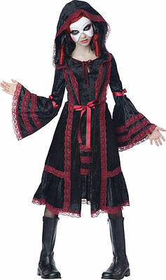 Gothic Doll Costume for Girls/Tweens size 12-14 by Ca. Costumes 04076