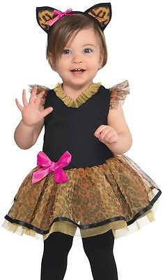 Leopard Costume Dress Tutu Ears Cutie Cat Baby Infant Toddler - 0-6, 6-12, 12-24