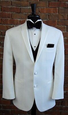 MENS 40 R  WHITE SLIM FIT DINNER JACKET TUXEDO  LASTRADA by AFTER SIX