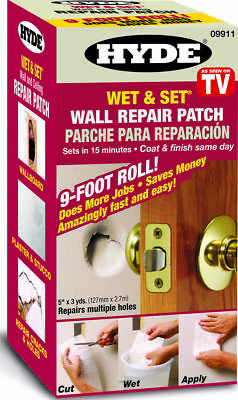 Hyde Contractor Roll Wet and Set Wall Hole Cracks Damage Repair Patch 5