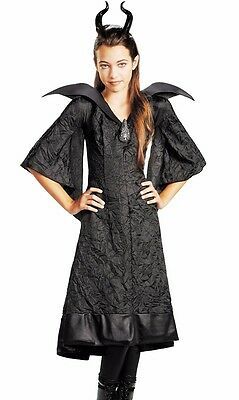 Maleficent Costume Christening Black Gown Dress Girls Child - M 7-8, L 10-12](Maleficent Girls Costume)