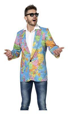WIL - Herren Kostüm Weltbürger Globus Jacke Karneval - Globus Kostüm