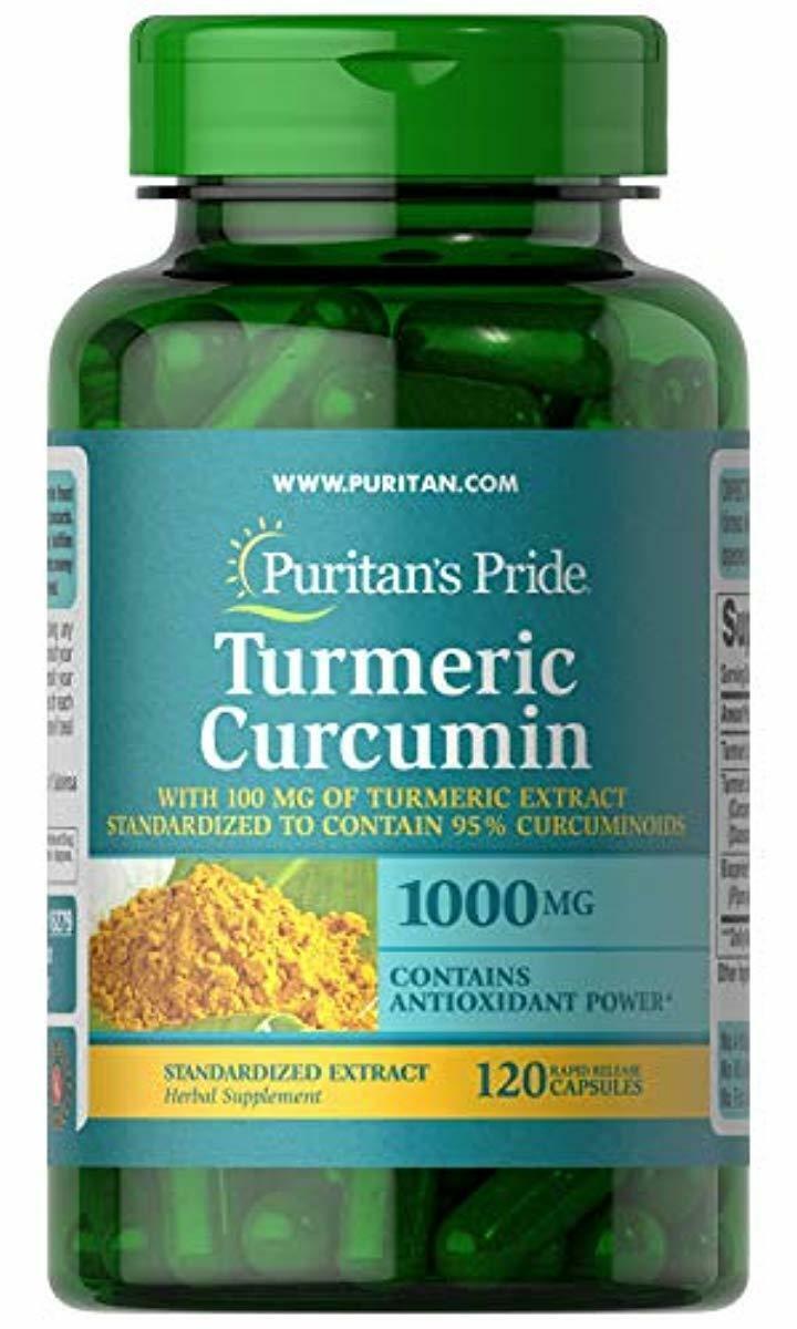 Puritans Pride Turmeric Curcumin with Bioperine, 1000mg, 120