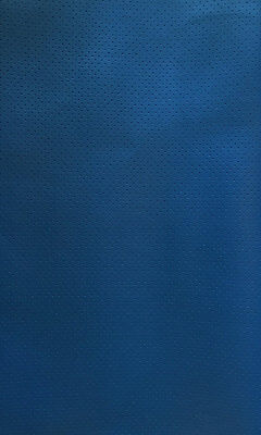 - vinyl Faux Leather Perforated Pacific blue commercial grade upholstery fabric