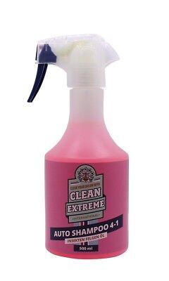Cleanextreme Champu de Coche Champú 4 IN 1 Limpiador Universal 500ml
