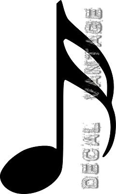 Bill Sticker - Semiquaver Music Sixteenth Note Vinyl Sticker Decal - Choose Size & Color