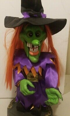 "RARE HTF 18"" Gemmy Freaky Geeks Halloween Motion Dancing/Singing Witch-Evil Ways"