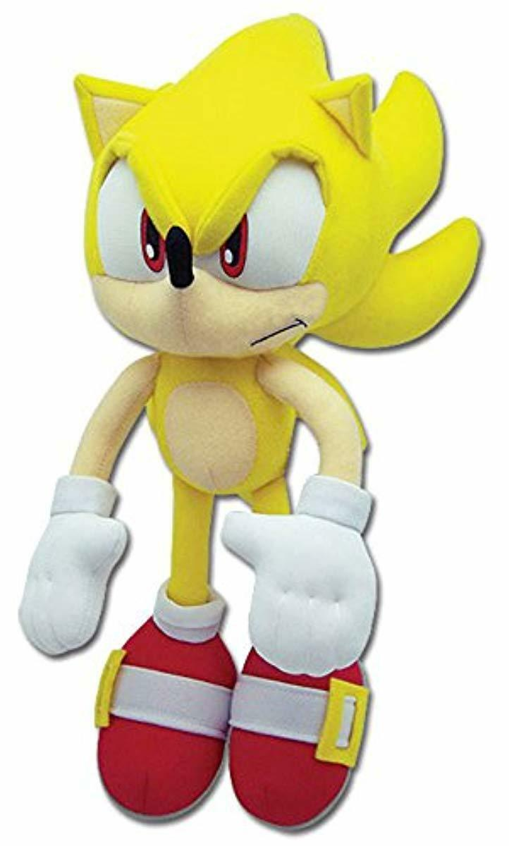 Super Sonic The Hedgehog Plush Gift Sega Great Eastern Soft Plushie Toy Yellow Ebay