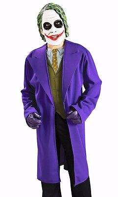 Batman Kids Costume (The Joker Costume Boys Childs Batman Dark Knight - S 4-6, M 8-10, L 12-14 -)
