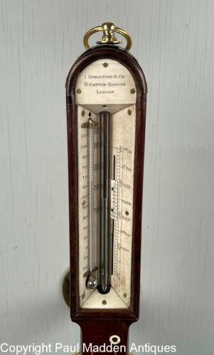 Antique Marine Ship Barometer by J. Somalvico, London