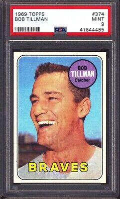 1969 Topps Baseball #374 Bob Tillman PSA 9