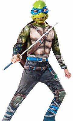 Leonardo Costume TMNT Teenage Mutant Ninja Turtles Boys Kids Girls Childs- S M L (Tmnt Girls Kostüme)