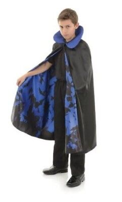 Underwraps Child One Size Vampire Cape with Bat Lining Costume Piece for Kids](Bat Costume For Kids)