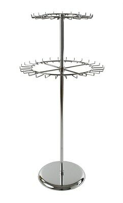 Revolving Belt And Tie Rack Two Tier Chrome