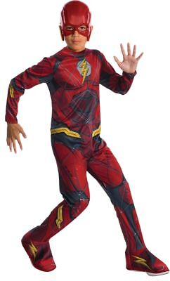 Rubies DC Comics Flash Justice League Barry Child Boys Halloween Costume 630861 - Flash Halloween