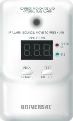 USI 107117 PLUG IN COMBINATION CARBON MONOXIDE AND NATURAL GAS DETECTOR WITH