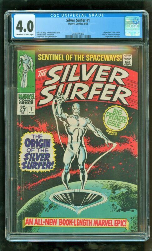 CGC 4.0 SILVER SURFER #1 MARVEL COMICS 1968 ORIGIN OF THE SILVER SURFER WATCHERS