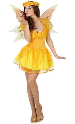 Kostüm gelbe Elfe Fee Elfenkostüm Sonnenschein OHNE Flügel Gr. 36 38 (Fee Elfen Kostüm)