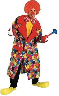 Patches the Clown Jacket Circus Funny Scary Dress Up Halloween Adult Costume (Scary Funny Halloween Costumes)