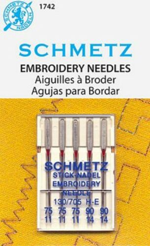 Schmetz Machine Embroidery Assortment Size 75-90 Pack of 5