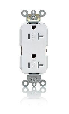 Leviton TDR20-W 20Amp 125V Decora Plus Duplex Receptacle Outlet, White