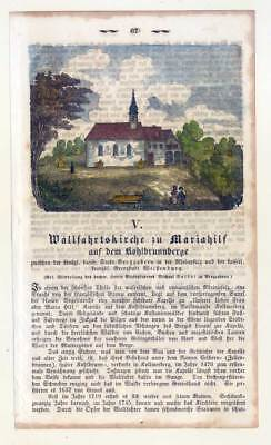 Bergzabern-Wallfahrtskirche-Mariahilf-Kohlbrunnberg - Holzstich um 1860