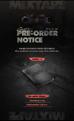 STRAY KIDS - Mixtape CD+Pre-Order Benefit+Folded Poster+Free Gift+Tracking no.