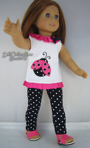 LADYBUG TUNIC + LEGGINGS made for 18