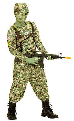 Power Army Soldat Kinderkostüm NEU - Jungen Karneval Fasching Verkleidung Kostüm