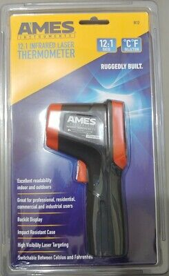 Ames Temperature Gun Non-contact Digital Laser Infrared Ir Thermometer New