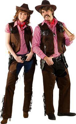 Orl - Damen Kostüm Cowgirl Western Chaps Karneval Fasching