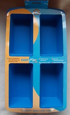 Wilton Easy-Flex Silicone Mini Loaf Pan for Bread, Cakes and