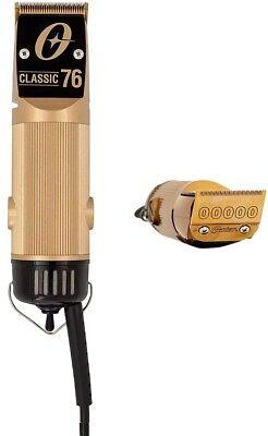 Tosquiadeira Oster Professional Classic 76 com edição limitada e lâmina de ouro 000