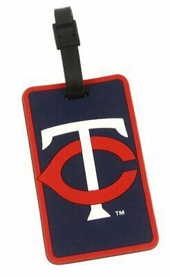 Minnesota Twins Bag Tag ID Tag Rubber Luggage Travel Tag MLB ()