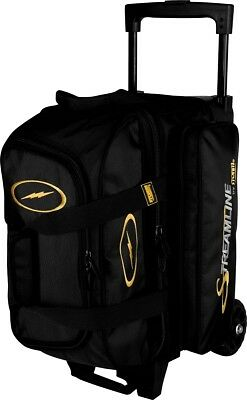 Storm Streamline 2 Ball Roller Bowling Bag with Wheels Color Black NEW
