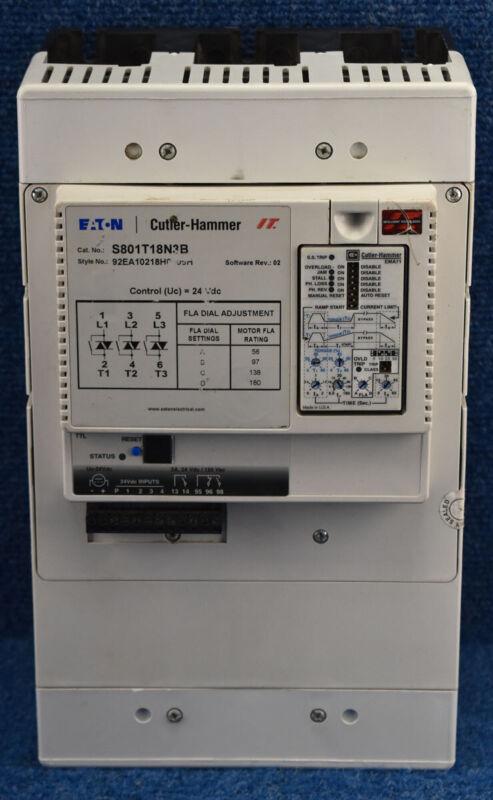 Cutler-Ham S801T18N3B  S801T18N3B EATON Soft Starter 200-575VAC 180A Max 3PH