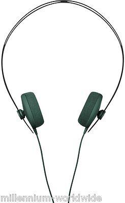 NEW - AIAIAI TRACKS HEADPHONES W/ 3 BUTTON MIC - GREEN / ON EAR / 40 MM