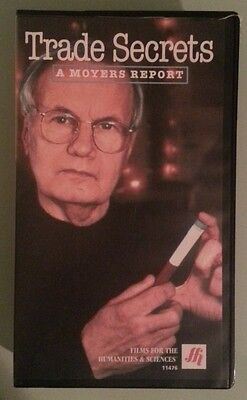 TRADE SECRETS  a bill moyers report on chemicals   VHS VIDEOTAPE