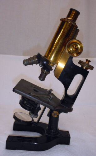ANTIQUE Vintage 1914 Brass Bausch & Lomb Professional Microscope    EVANS DENTAL