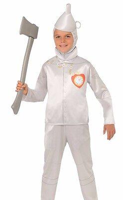 Tin Man Costumes (Tin Man Costume Childs Kids Boys Girls WIzard of Oz - S 4-6, M 8-10, L)