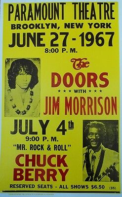 Jim Morrison and The Doors with special guest Chuck Berry Poster