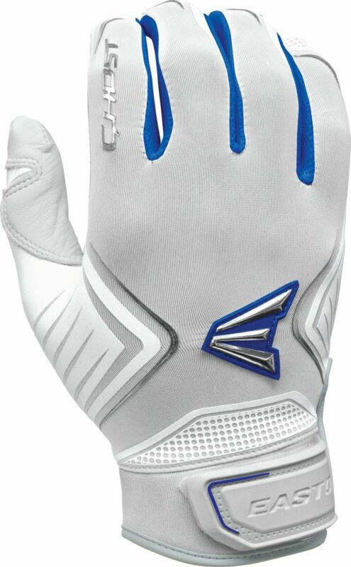 Easton Ghost Fastpitch Batting Gloves White/Royal - Medium