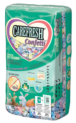 Carefresh Confetti 10 Litre Bedding - Small Animal/Rabbit Reptile Paper bedding 10 Liter Small Animal Bedding