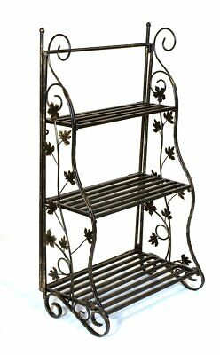 Tiered Flower Stage Classic Metal Plant Display Stand Bronze Plant Theatre